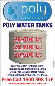 Poly water tanks for all of your water tank needs.